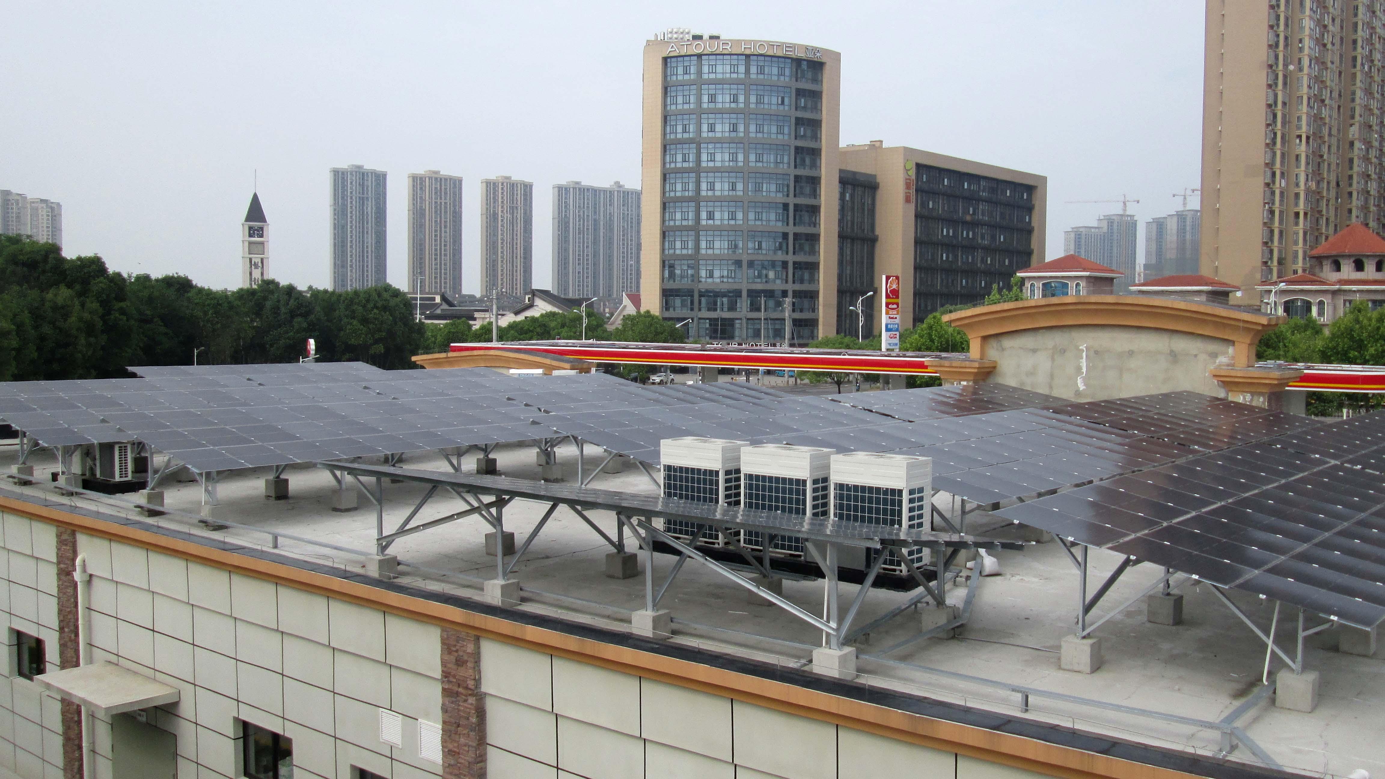 中石油武汉盘龙大道加油站绿电项目