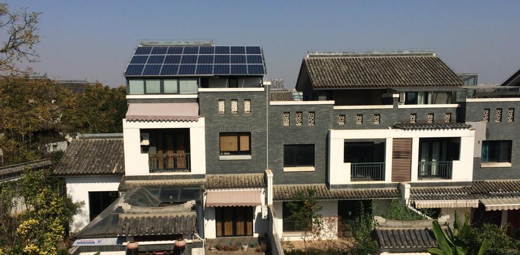 武漢中國院子6KW家庭光伏項目