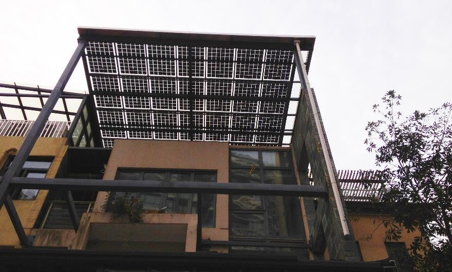 武漢東湖天下陽光棚BIPV家庭光伏發電